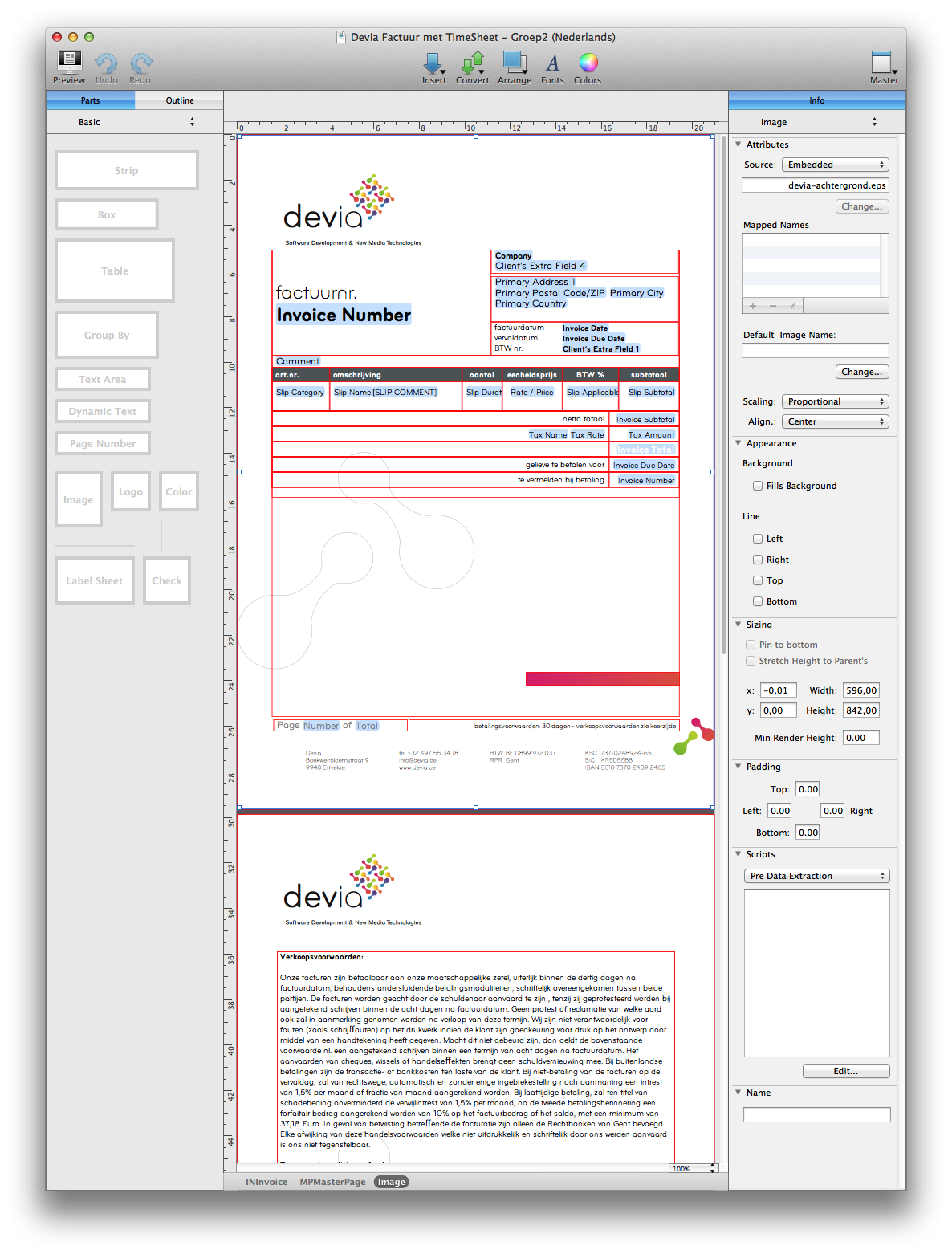 Billings - Devia Invoice Template