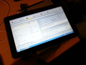 Our WMS Client on the Samsung ATIV Smart PC