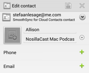 Smoothsync for Cloud Contacts - Editing a Contact